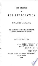 The history of the restoration of monarchy in France...