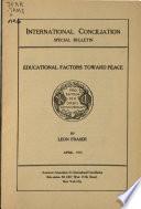 Educational Factors Toward Peace