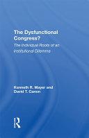 The Dysfunctional Congress? Pdf/ePub eBook