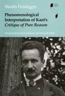 Pdf Phenomenological Interpretation of Kant's Critique of Pure Reason