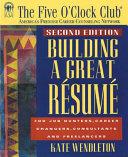 Building a great résumé
