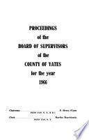 Proceedings of the Board of Supervisors