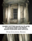 Harry Potter Magical Places & Characters Coloring Pages for Kids and Adults