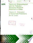 Optimum Meteorologial And Air Pollution Sampling Network Selection In Cities
