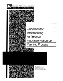 Guidelines For Implementing An Effective Integrated Resource Planning Process Book PDF