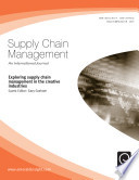 Exploring Supply Chain Management in the Creative Industries Book