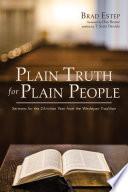 Plain Truth for Plain People
