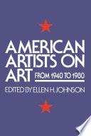 American Artists On Art