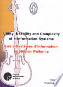 Utility  usability and complexity of e information systems