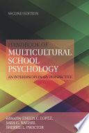 Handbook of Multicultural School Psychology Book