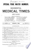 Occidental Medical Times  Combining the Pacific Record of Medicine and Surgery and the Occidental Medical Times0