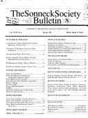 The Sonneck Society Bulletin