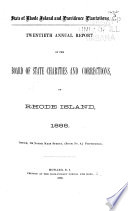 Annual Report of the Board of State Charities and Corrections of Rhode Island