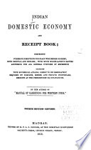 Indian Domestic Economy and Receipt Book