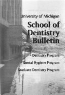 School of Dentistry Bulletin