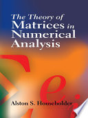 The Theory Of Matrices In Numerical Analysis Book PDF