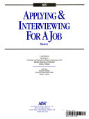 Applying and Interviewing for a Job