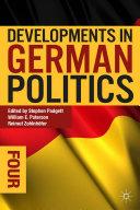 Developments in German Politics 4