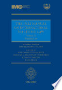 The Imli Manual On International Maritime Law Volume Ii Shipping Law