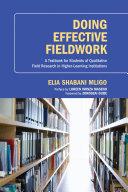Doing Effective Fieldwork