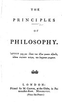 The Principles of Philosophy  By Andrew Wilson