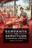 Pdf Servants and Servitude in Colonial America Telecharger
