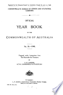 Official Year Book Of The Commonwealth Of Australia No 33 1940