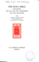 The Holy Bible, Containing the Old and New Testaments and the Apocrypha ...