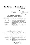 The Review of Korean Studies
