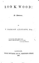 Rookwood     The fourth edition     with illustrations by George Cruikshank  With a portrait