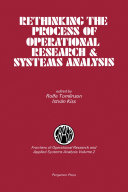 Rethinking the Process of Operational Research   Systems Analysis