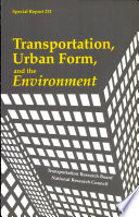 Transportation Urban Form And The Environment Book PDF