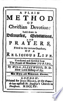A Plain Method of Christian Devotion