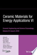 Ceramic Materials for Energy Applications VI