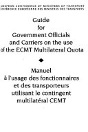 Guide for Government Officials and Carriers on the Use of the ECMT Multilateral Quota ebook