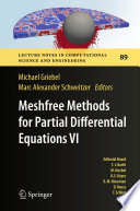Meshfree Methods for Partial Differential Equations VI Book