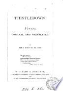 Thistledown: verses, orig. and transl