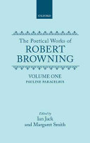 Pdf The Poetical Works of Robert Browning: Volume I. Pauline, Paracelsus