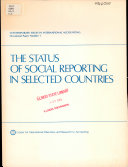 The Status of Social Reporting in Selected Countries