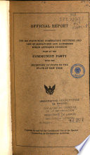 The 1942 State Wide Nominating Petitions and List of Signatures and Addresses which Appeared Thereon  Filed by the Communist Party with the Secretary of State in the State of New York