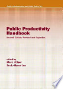 Public Productivity Handbook Book PDF
