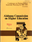 Statewide Postsecondary Planning for 1980 1985