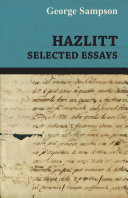 Hazlitt - Selected Essays Pdf