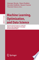 Machine Learning  Optimization  and Data Science Book