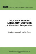 Modern Malay Literary Culture