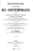 Dictionnaire universel des contemporains
