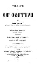 Traité de droit constitutionnel