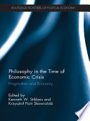 Philosophy In The Time Of Economic Crisis Book PDF