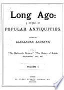 Long Ago Book