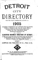 Detroit City Directory for